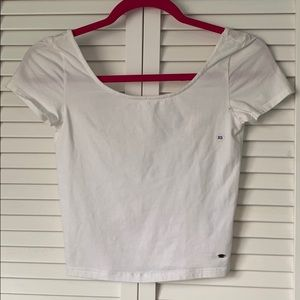 Scoop neck Crop T shirt